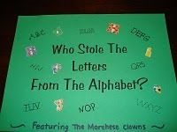 I found a twist on Who Stole the Cookie From the Cookie Jar on Melayne's Under the Big Top Blog. I have posted two pictures from her site be...