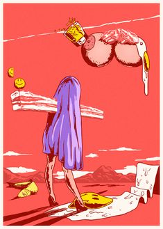 Surrealist illustrations. Flakonkishochki.
