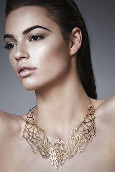 photo Kamil Strudziński makeup and hair Kamila Patyna, model Natalia Chojnacka, jewellery Klara Kostrzewska