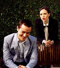 JGL and Ellen Page.