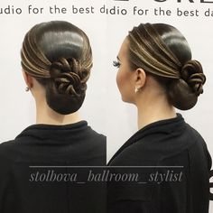 "186 Likes, 1 Comments - Дарья Столбова (@stolbova_ballroom_stylist) on Instagram: ""Вallroom hairstyle by Darya Stolbova Имидж-студия @artecreo Запись/Booking: +7 (977) 804-22-01 /…"""