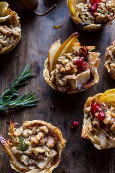 Crispy Prosciutto Baked Brie Bites with Honey Pears + Walnuts | halfbakedharvest.com @hbharvest