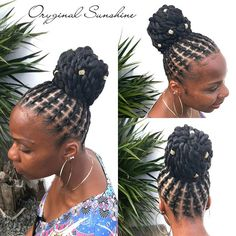 Natural Hair Bun Styles, Natural Hair Braids, Natural Afro Hairstyles, African Braids Hairstyles, Dreadlock Hairstyles, Braids For Black Hair, Natural Hair Growth, Braided Hairstyles, Short Hair Styles