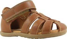 Umi Infant Boys' Ryker Closed Toe Sandal Saddle Tan Leather Size 19 M, Infant Boy's, Brown