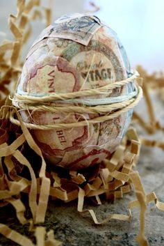 Vintage Label Inspired Easter Eggs! #EasterEggs