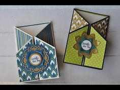 Card of the Week 6 Z Cards, Step Cards, Stampin Up Cards, Tri Fold Cards, Fancy Fold Cards, Folded Cards, Side Step Card, Karten Diy, Hand Made Greeting Cards