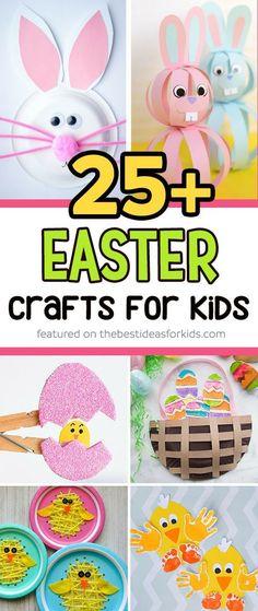 25 + Easter Crafts for Kids #artsandcraftsfortoddlers,