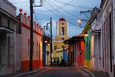 Camagüey (Cuba) - Calle Hurtado and Hospital San Juan de Dios