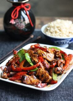 Stir-Fried Chicken with Chinese Garlic Sauce by SeasonWithSpice.com #ChineseFoodRecipes
