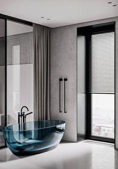 -WBB- on Behance Bathroom Toilets, Laundry In Bathroom, Bathroom Spa, Gray Interior, Contemporary Interior, Wc Design, Washroom Design, Modern House Design, Beautiful Interiors