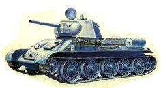 T-34/76M con torre hexagonal de fundición y escotillas dobles para el comandante y el cargador. Más en www.elgrancapitan.org/foro/