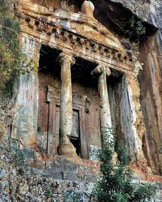 The Tomb of Amyntas, also known as the Fethiye Tomb, is an ancient Greek rock-hewn tomb at ancient Telmessos, in Lycia, currently in the district of Fethiye in Muğla Province, located in the Aegean region of Turkey