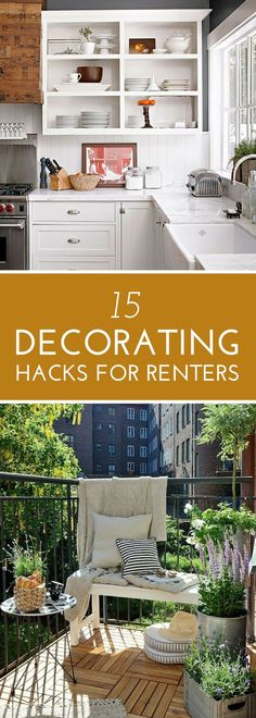 15 Decorating Hacks for Renters (That Won't Cost You Your Security Deposit)   Easy and budget-friendly ways to upgrade your rental home or apartment.