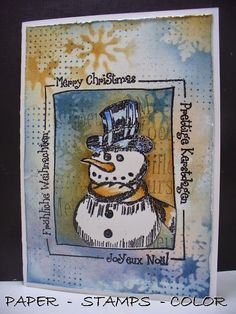 PAPER - STAMPS - COLOR: Will we have some snow and need some shawls?