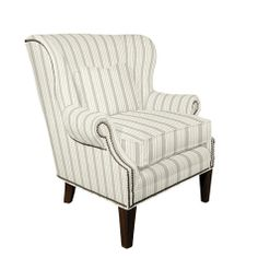 Martel Wing Chair with Nailhead Trim Grey Velvet Chair, Upholstered Chairs, Furniture, Nailhead, Wing Chair, Chair, Club Chairs, Ballard Designs, Home Decor