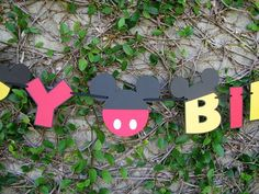 Mickey Mouse Happy Birthday Banner  MADE TO ORDER by mypaperpantry