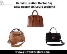 Genuine Leather Doctor Bag / Bolsa Doctor em Couro Legítimo By Girly