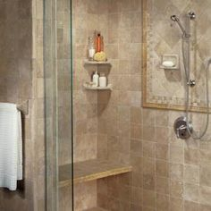 20 Bathroom Tile Ideas That Will Astonish You: Rococo DeLuxe:  Travertine and Fancy Borders