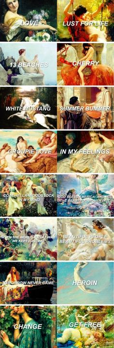 Lana Del Rey songs from Lust For Life as art #LDR
