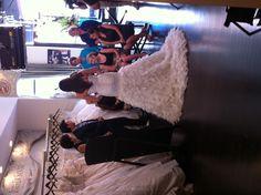 Behind the scenes of My Fair Wedding with David Tutera, at Lovella Bridal; @Inés Peschiera Di Santo gown