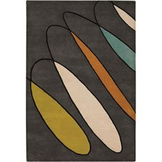 @Overstock - This hand-tufted Erima wool rug displays a geometric design that makes a great addition to your home or office. This area rug's primary color is brown and features shades of beige, orange, blue, black and charcoal brown. http://www.overstock.com/Home-Garden/Hand-tufted-Erima-Brown-Wool-Rug-79-x-106/5202705/product.html?CID=214117 $423.99