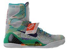 fc445861b83f Officiel Nike Kobe 9 IX Elite Chaussures Nike Basketball Pas Cher Pour  Homme Gris - vert