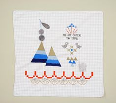 Embroidery Stitch Sampler | Karen Barbé | Textileria: Yo no bordo tonteras