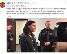 Former Glee star Naya Rivera has been arrested for misdemeanor domestic battery in Kanawha County, West Virginia, E! News confirms. Domestic Battery, Celebrity Gist, Naya Rivera, Say Anything, Glee, West Virginia, Husband, Actresses, Star