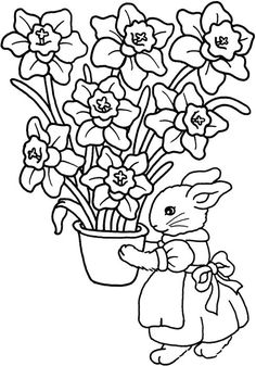 mothers day flowers coloring pages - Free Large Images | More pages ...