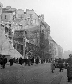 Budapest, Rakoczi ut after WWII.