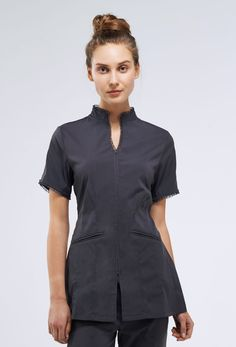 Stylemonarchy spa uniform couture elegant spa tunic in for Spa uniform in the philippines