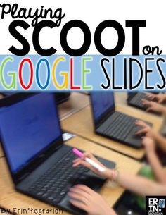 I always enjoy a game of Scoot where students practice a skill while moving around and even creating the questions, so was intrigued by altering the game by moving from computer to computer… Google Classroom, School Classroom, Classroom Activities, Classroom Ideas, Flipped Classroom, Educational Activities, High School Activities, Classroom Procedures, Online Classroom