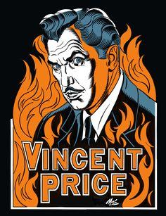 Vincent price t-shirt dr phibes // Edward aux mains d'argent // Edgar Allan Poe