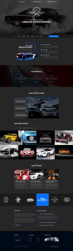 "Consulta este proyecto @Behance: ""Mechanic - Car Repair, Tuning, Routine Maintenance PSD"" https://www.behance.net/gallery/42360877/Mechanic-Car-Repair-Tuning-Routine-Maintenance-PSD"