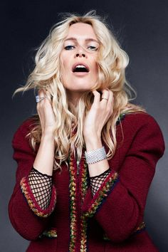 """""""Unmistakable, Unforgettable, Always In Fashion: Icons"""" Claudia Schiffer in CHANEL for Harper's Bazaar US September 2014"""