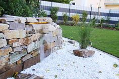 Garten - Wasserfall Mauer Naturstein | Garten | Pinterest | Garten ...
