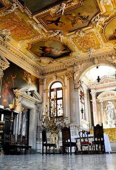 Venice Italy Venetian Palazzo Interiors | Wedding in Venetian palace symbolic wedding in Venetian palace*silva*.