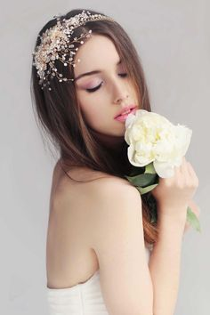 Summer Goddess headpiece by Bride La Boheme