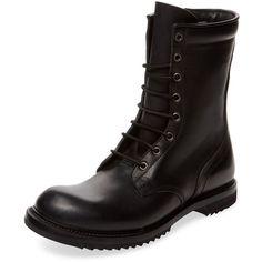 Rick Owens Black Goodyear Flex Combat Boots | Boots | Pinterest ...