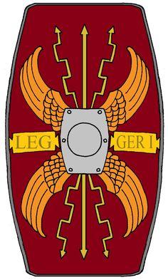 Roman Legionary Shield Legion 2 Augusta by on DeviantArt Roman Legion, Legion 2, Roman Armor, Roman Soldiers, Ancient Rome, Roman Empire, Detailed Image, Army, Armature