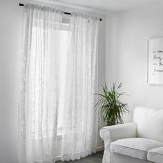 BORGHILD Skira gardiner, 1 par - vit - IKEA
