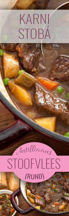 De lekkerste Antilliaanse KARNI STOBÁ (stoofschotel van rundvlees) maak je natuurlijk met ons recept!