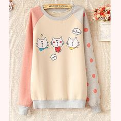 Buy 'Ringnor – Color-Block Cat Print Pullover' with Free International Shipping at YesStyle.com. Browse and shop for thousands of Asian fashion items from China and more!