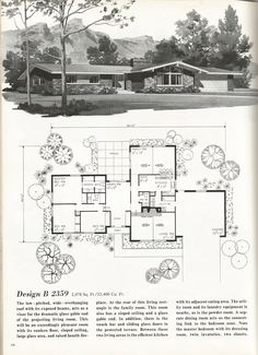 vintage house plans mid century homes 1970s homes vintage house