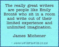 Writer's Write - Quotable - James Michener
