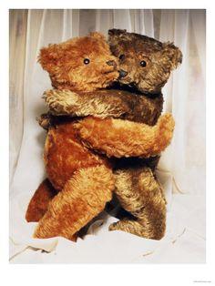 Two Steiff Teddy Bears Embracing
