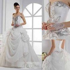Beautiful fairy tale wedding dress