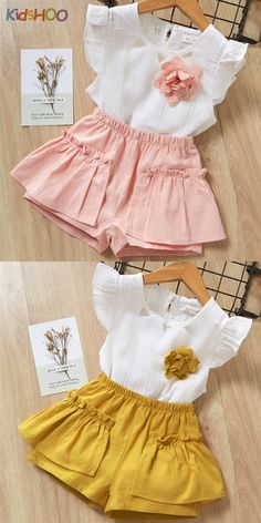 Best 12 Hollow Out Blouse, Ruffles Shorts Baby Girl Dress Patterns, Baby Dress Design, Baby Clothes Patterns, Cute Baby Clothes, Kids Dress Wear, Little Girl Dresses, Cute Outfits For Kids, Boy Outfits, Tutu Rose