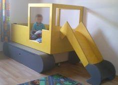 Inspiriert durch den Ich hab mir mal was gegönnt … – Thread hier analog ein … Boy Room, Kids Room, Construction Bedroom, Cool Kids Bedrooms, Kid Table, Kid Beds, Kids Furniture, Toddler Bed, Inspiration