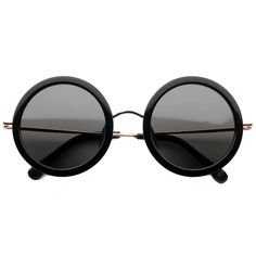 the row - 8c1 round oversized framed sunglasses (black) - wear it with crazy tophat.... rocking it!